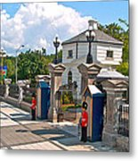 Guards At Queen's Gate In Ottawa-on Metal Print