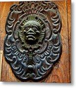 Guatemala Door Decor 1 Metal Print