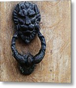 Guatemala Door Decor 2 Metal Print