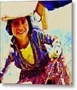 Guatemala Fisher Boy Smiling Metal Print