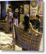 Guatemalan Girl With Shawl Metal Print