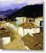 Guatemalan Roof Top Metal Print