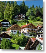 Guest Houses And Homes Built On The Metal Print