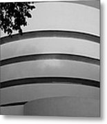 Guggenheim In The Round In Black And White Metal Print