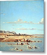 Guigou's Washerwomen On The Banks Of The Durance Metal Print