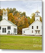 Guildhall Village Historic District In Autumn Vermont Metal Print
