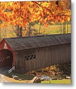 Guilford Vermont Covered Bridge Metal Print