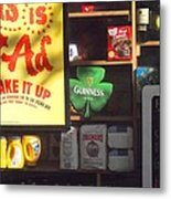 Guiness In The Window Metal Print
