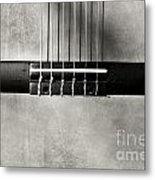 Guitar Abstract In Monochrome Metal Print