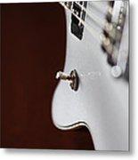 Guitar Abstract Metal Print