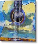 Guitar And Clouds Metal Print