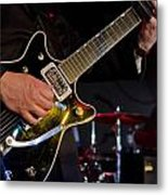 Guitar At The Blues Festival Metal Print