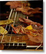 Guitar Autumn 2 Metal Print