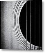 Guitar Film Noir Metal Print