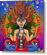 Guitar Goddess Metal Print