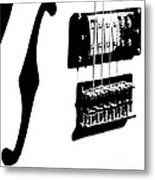 Guitar Graphic In Black And White  Metal Print