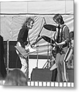 Guitar Interplay At The Day On The Green 6-6-76 Metal Print
