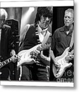 Guitar Legends Jimmy Page Jeff Beck And Eric Clapton Metal Print