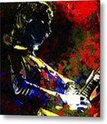 Guitar Man Metal Print