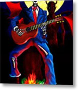 Guitar Man Upstairs Metal Print