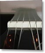 Guitar Neck Fading Out Metal Print