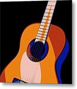 Guitar Of Colors Metal Print