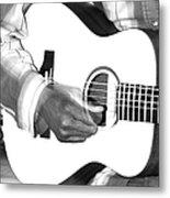Guitar Player Metal Print by Aidan Moran