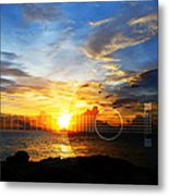 Guitar Sunset - Guitars By Sharon Cummings Metal Print