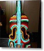 Guitar Vase Metal Print