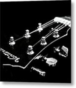 Guitar Ventura Head Stock 1 Metal Print