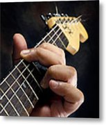 Guitarist Playing Guitar Metal Print