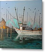 Gulf Shrimpers Metal Print