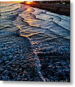 Gulf Sunset Metal Print by Perry Webster