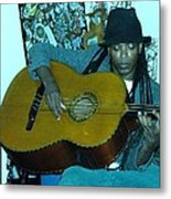 Gully Guitar And Black Hat  Metal Print