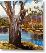 Gum Trees Of The Snowy River Metal Print