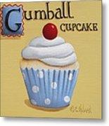 Gumball Cupcake Metal Print