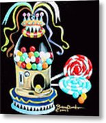 Gumball Machine And The Lollipops Metal Print