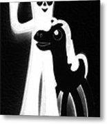 Gumby And Pokey B F F Black White Metal Print