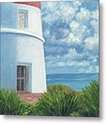 Gun Cay Lighthouse Metal Print