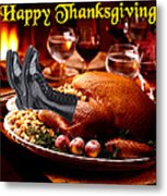 Gung Ho Turkey Metal Print