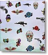 Guns And Roses  Metal Print