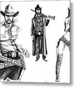 Gunslingers Metal Print