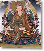 Guru Rinpoche Thangka Art Canvas Metal Print