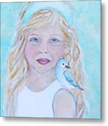 Gwyneth Little Earth Angel Of Happiness Metal Print