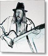 Gypsy Guitarist Metal Print