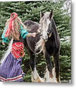 Gypsy Vanner Dance Metal Print