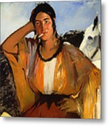 Gypsy With A Cigarette Metal Print