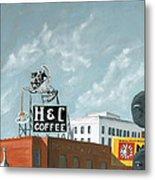 H And C Coffee Metal Print