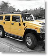 Hummer H2 Series Yellow Metal Print