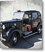 Hackney Carriage Austin Fx3 Of London C. 1955 Metal Print